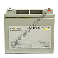 LogicPower LP-MG 12V 40AH  - 12В - 40 А/ч  - мультигелевый аккумулятор для котла