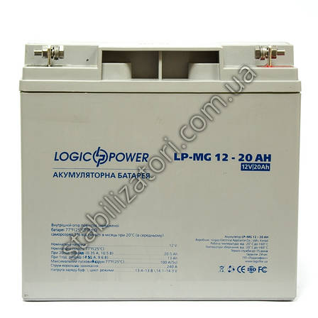 LogicPower LP-MG 12V 20AH - 12В - 20 А/ч - мультигелевый аккумулятор, AGM, фото 2