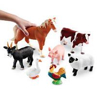 """Набор больших реалистичных животных  """"Ферма"""" от Learning Resources"""