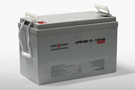 LogicPower AGM LPM-MG 12V 120AH  - 12В - 120 А/ч  - мультигелевый аккумулятор для котла, фото 2