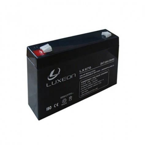 LUXEON LX670 - 6В - 7 А/ч  - мультигелевый аккумулятор, AGM, фото 2