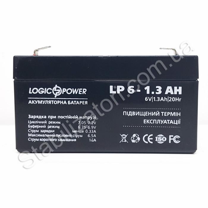 LogicPower LP 6V 1.3 Ah - 6В - 1,3 А/год - кислотний акумулятор