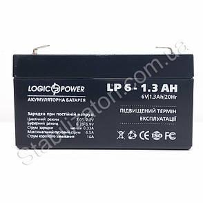 LogicPower LP 6V 1.3 Ah - 6В - 1,3 А/год - кислотний акумулятор, фото 2