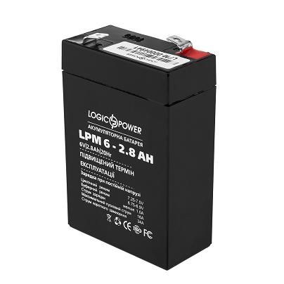 LogicPower LPM-6-2.8 AH - 6В - 2,8 А/ч - кислотный акумулятор, фото 2