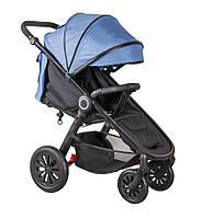 Детская прогулочная коляска Coletto JOGGY 04 на черной раме, розовая (6039)