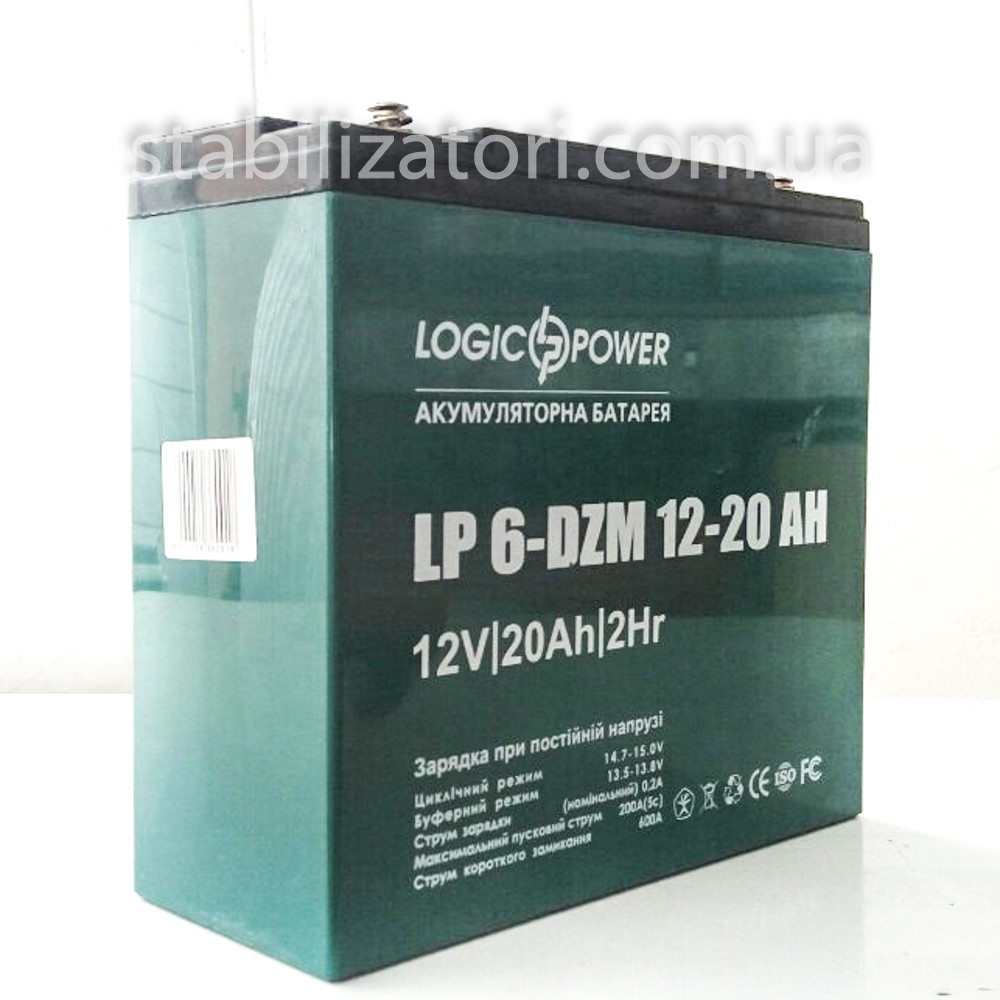 LogicPower LP 6-DZM-20- 12В - 20А/ч тяговый аккумулятор - для электровелосипеда