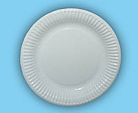 Одноразовая круглая бумажная ламинированная тарелка 18 см