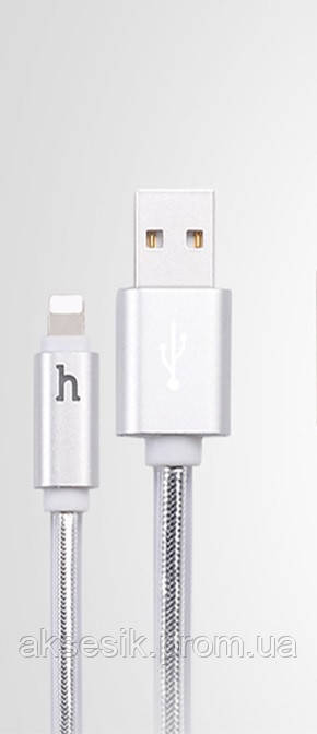 Кабель для iPhone 5/6/7 (8 pin) Hoco UPL12 Light! Lightning Cable (2m) (gray)