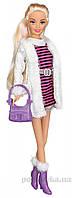 Набор Городской стиль блондинка в полосатом платье Ася 35067