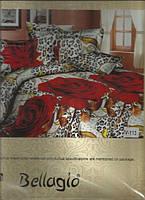 Якісна постільна білизна Червоні ТРОЯНДИ полуторна (Качественное постельное бельё Красные РОЗЫ полуторное)