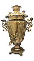 Самовар рюмка с венецианскими ручками 7 литров (Гарантия 1 год)