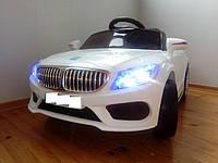 Детский электромобиль BMW КХ1339-2 Премиум, резина, кожа, ключ зажигания, белый