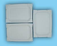 Одноразовая бумажная прямоугольная тарелка 14*20 см