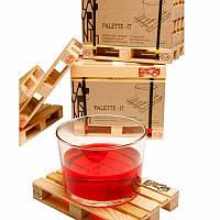 Деревянная подставка, поддон для стаканов оригинальной формы!
