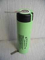 Li-ion аккумулятор Panasonic NCR18650B 3400mAh, с выводами под пайку, U-tags