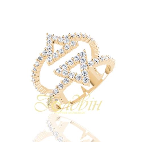 Золота каблучка з фіанітами ГП10435