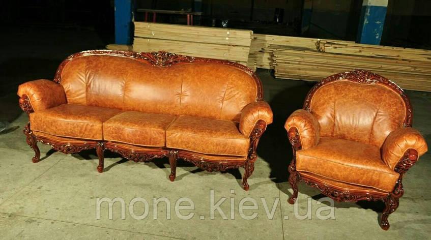 """Комплект мягкой мебели """"Ника"""" (3+ 1 ) в коже, фото 2"""