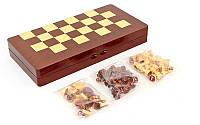 Шахматы, шашки, нарды 3 в 1 деревянные IG-5008B (фигуры-дерево, р-р доски 50см x 50см)