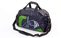Сумка спортивная DUFFLE BAG ZEL GZ-1055 (PL, р-р 47х30х23см, черный-белый, золото, зеленый)