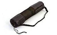Чехол для йога коврика UR DR-5375 (р-р 16 х 70см, оксфорд, черный)