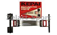 Эспандер пружинный 3 в 1 плечевой, кистевой, для пресса 5пружин KEPAI KL-5360 (металл, пласт,l-35см)