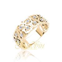 Золотое кольцо с фианитами. ГП10436