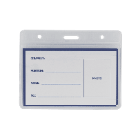 Бейдж горизонтальный Buromax 95х75мм PVC (10шт/уп) (BM.5402)