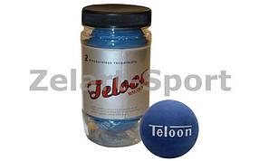 Мячик для ракетбола (для метания) TELOON (2шт) T896 RACQUETBALL (резина, упаковка-туба)