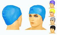 Шапочка для плавания на длинные волосы GRILONG SC4611 (силикон, цвета в ассортименте)