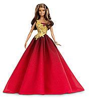 Коллекционная кукла Барби праздничная в красном платье Barbie 2016
