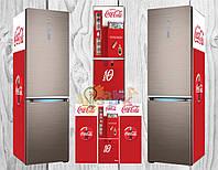 Дизайнерские наклейки на холодильник Кока кола