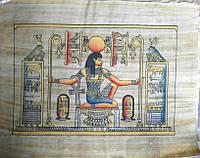Египетские папирус  картина дизайн Египет.Папирус настоящий Предметы искусства 40 см на 30 см