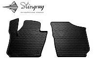 Stingray Модельные автоковрики в салон VOLKSWAGEN Polo Hatchback 2009- Комплект из 2-х ковриков (Черный)