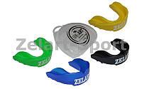 Капа боксерская односторонняя (одночелюстная) юниорская в футляре ZEL BO-3604-S (термопластик,р-р S)