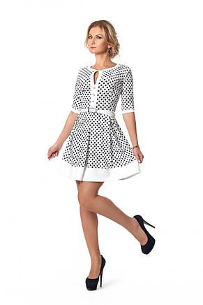 Романтичное женское платье из бархата с пышной юбкой , фото 2