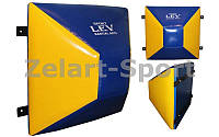 Макивара настенная ромбовидная (1шт) Тент Лев UR LV-4287 (р-р 60x60x33см, сине-желтый)
