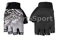 Велоперчатки текстильные VERY GOOD SPORT BC-4831-BK (открытые пальцы, р-р L, черный)