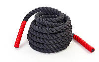 Канат тренир. для Кроссфита FI-5311-6 COMBAT BATTLE ROPE (полипропилен, ручки:винил,l-6м,d-3,8см)