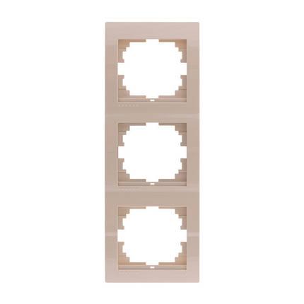 Рамка тройная вертикальная Lezard Deriy Крем 702-0303-153, фото 2