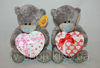 Мишко Teddy з коробкою для подарунка 17 см