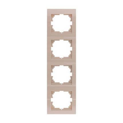 Рамка четверная вертикальная Lezard Deriy Крем 702-0303-154, фото 2