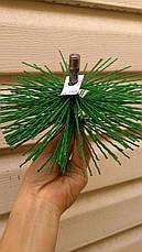 Щетка для чистки дымохода 180 мм, пластик под резьбу, фото 3