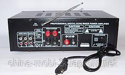 Підсилювач звуку UKC AMP AV-329BT 2*120W c Karaoke і Bluetooth, фото 2