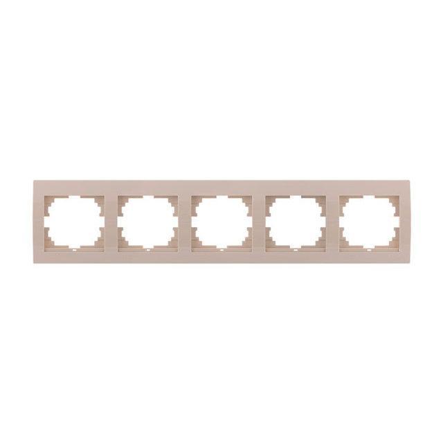 Рамка пятерная Lezard Deriy Крем 702-0303-150