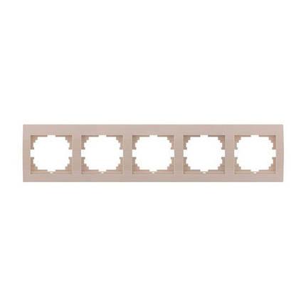 Рамка пятерная Lezard Deriy Крем 702-0303-150, фото 2