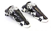 Мотозащита (колено, голень) 2шт SCOYCO K12 (пластик, PL, черный-белый)