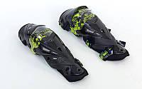 Мотозащита (колено, голень) 2шт SCOYCO K12-G (пластик, PL, черный-салатовый)