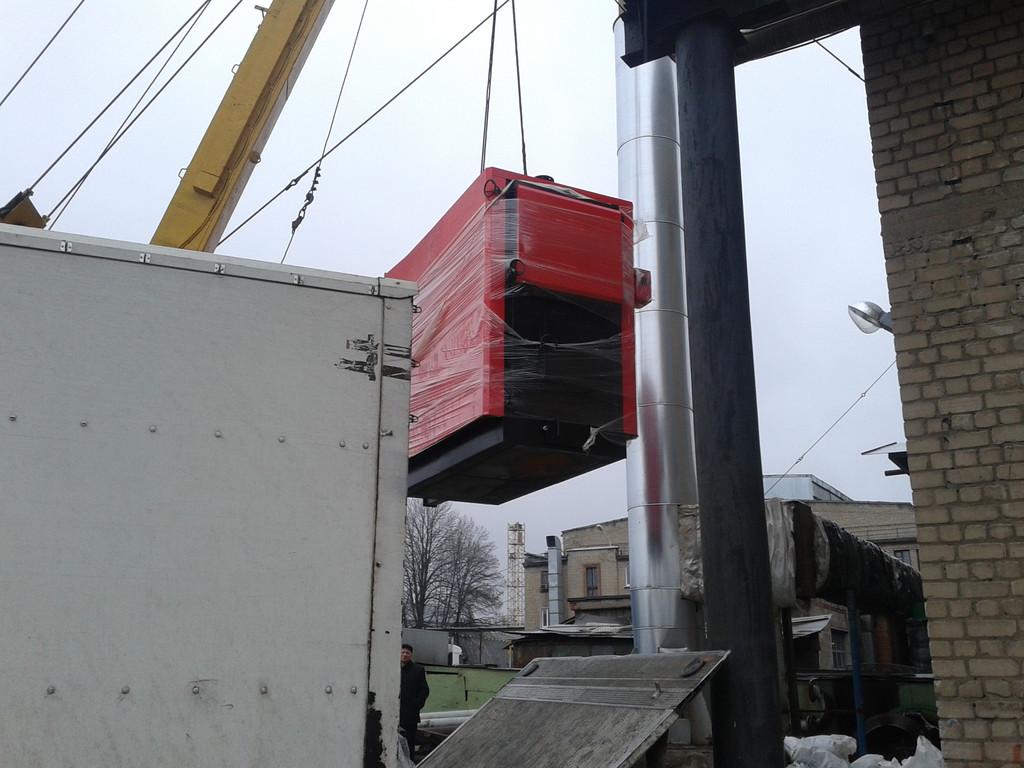 Проектирование и поставка твердотопливного котла ARS 1 МВт (Завод кабельных систем) г.Харьков