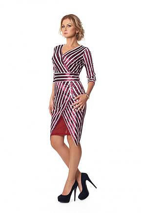 Нарядное оригинальное приталенное платье миди из бархата, фото 2