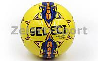 Мяч футбольный №5 PU ламин. ST BRILLANT SUPER ST-26 желтый-синий-оранжевый (№5, 5 сл., сшит вручную)